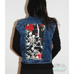 Chaleco Esqueletos y Rosas